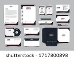 corporate identity template... | Shutterstock .eps vector #1717800898