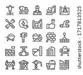 building construction icons set.... | Shutterstock .eps vector #1717813525