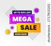 colorful mega sale labels and... | Shutterstock .eps vector #1717815202