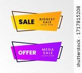 sale   creative banner vector... | Shutterstock .eps vector #1717815208