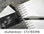 cassette tape and blank... | Shutterstock . vector #171783398