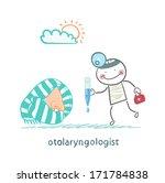 otolaryngologist offers nasal... | Shutterstock . vector #171784838