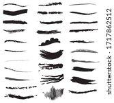 hand draw underline set vector | Shutterstock .eps vector #1717862512