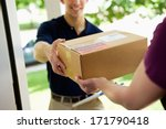 delivery  man delivering... | Shutterstock . vector #171790418