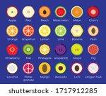 set of colorful flat designed... | Shutterstock .eps vector #1717912285