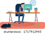 work from home  vector...   Shutterstock .eps vector #1717912945