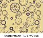 vintage clocks pattern  ... | Shutterstock .eps vector #171792458