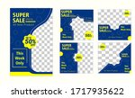 editable social media post... | Shutterstock .eps vector #1717935622