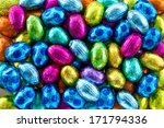 Colorful Candy Eggs As A...