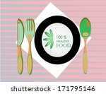 served table  announcing a menu ... | Shutterstock .eps vector #171795146