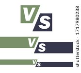 versus logo. vs vector letters... | Shutterstock .eps vector #1717980238