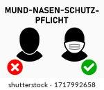 mund nasen schutz pflicht  ...   Shutterstock .eps vector #1717992658