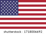 usa flag vector graphic.... | Shutterstock .eps vector #1718006692