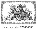 ancient,apple,apricot,art,autumn,background,basket,beautiful,crop,currant,decorative,design,drawing,drawn,eating