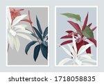 botanical poster design ... | Shutterstock .eps vector #1718058835