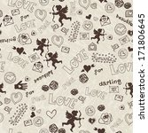 pattern with love icons | Shutterstock .eps vector #171806645