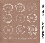 circle floral borders. sketch... | Shutterstock .eps vector #171807206