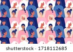 international womens day.... | Shutterstock .eps vector #1718112685