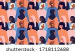 international womens day.... | Shutterstock .eps vector #1718112688