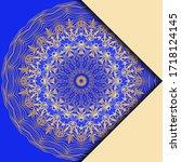 mandala design elements. invite ... | Shutterstock .eps vector #1718124145