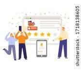 reviews design vector concept...   Shutterstock .eps vector #1718138605