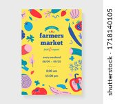 farmer's market placard  layout ... | Shutterstock .eps vector #1718140105