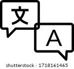 language translation icon on...