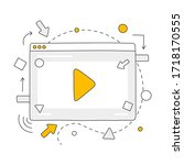 video content creation ... | Shutterstock .eps vector #1718170555