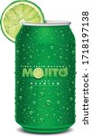 green tin can with mojito text  ... | Shutterstock .eps vector #1718197138