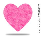 pink heart with watercolor... | Shutterstock . vector #171820625