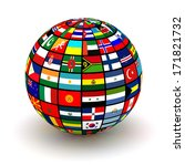 planet flags. 3d | Shutterstock . vector #171821732