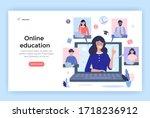 online education concept... | Shutterstock .eps vector #1718236912