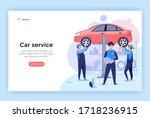 car service concept... | Shutterstock .eps vector #1718236915