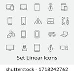 set of smart devices and... | Shutterstock .eps vector #1718242762