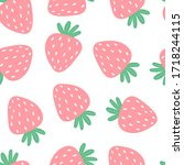 seamless pattern with cartoon... | Shutterstock .eps vector #1718244115
