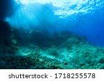 Underwater Scenery With Rocks...