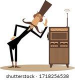 funny mustache man in the top... | Shutterstock .eps vector #1718256538