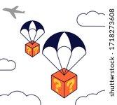 mystery box. win prizes gift... | Shutterstock .eps vector #1718273608