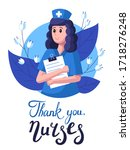 nurse on the background of... | Shutterstock .eps vector #1718276248