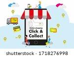 internet online shopping... | Shutterstock .eps vector #1718276998