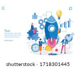 startup project development... | Shutterstock .eps vector #1718301445