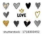 Hand Drawn Vector Heart With...