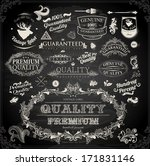 vector set of calligraphic... | Shutterstock .eps vector #171831146