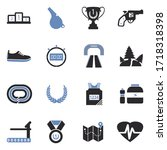 Running Icons. Two Tone Flat...