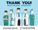 thank you brave healthcare... | Shutterstock .eps vector #1718333998