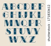 vector retro alphabet. type ...   Shutterstock .eps vector #171833612