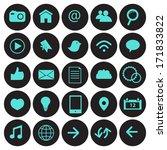 social network icons | Shutterstock .eps vector #171833822
