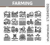 farming landscape collection...   Shutterstock .eps vector #1718340502