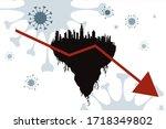 vector illustration of economic ... | Shutterstock .eps vector #1718349802