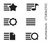 more icon vector. star  music ... | Shutterstock .eps vector #1718362552